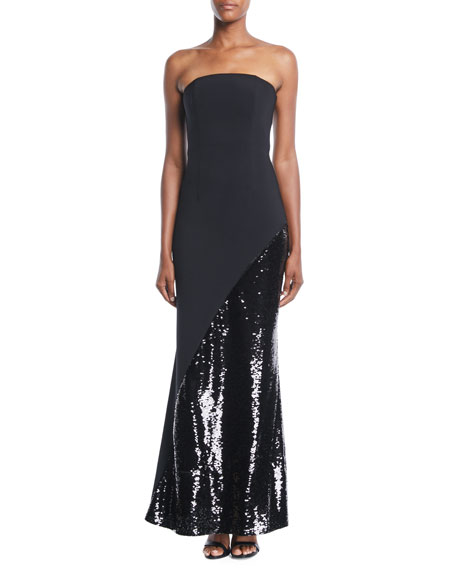 Chere Strapless Gown w/ Sequin Skirt
