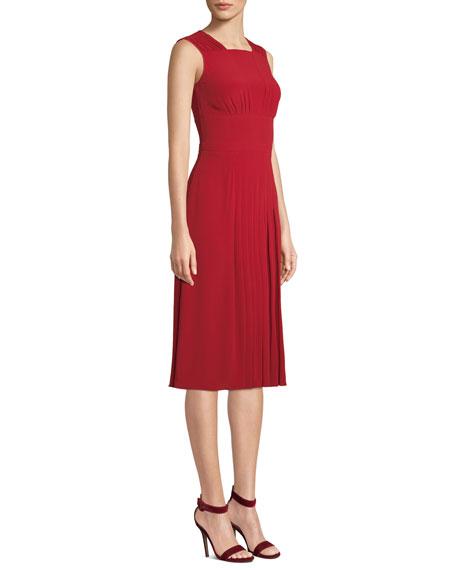 No. 21 Pleated Sleeveless Midi Dress
