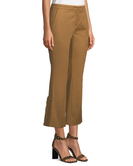 No. 21 Cropped Flared Cotton Pants