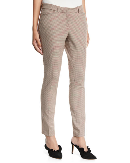 Manhattan Skinny-Leg Haberdashery Mini Check Pants
