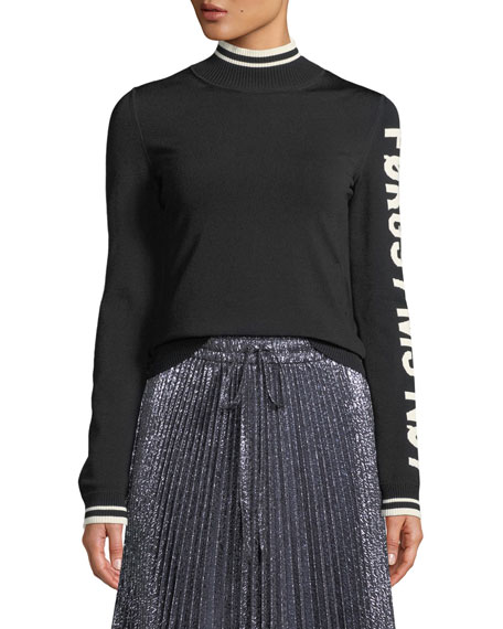 REDValentino Graphic-Knit Turtleneck Sweater and Matching Items &