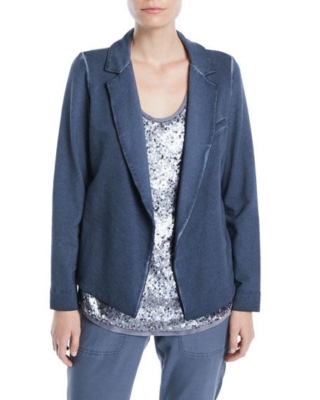 NIC+ZOE Plus Size Terry Open-Front Garment-Dye Blazer