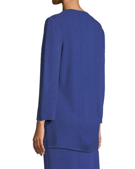 V-Neck 3/4-Sleeve Wool-Blend Sweater, Petite