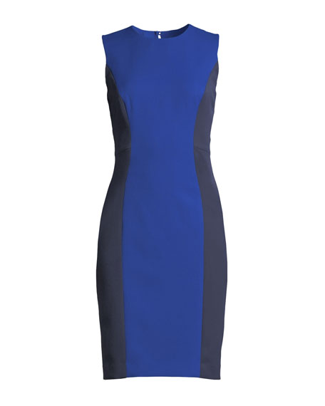 Sleeveless Colorblock Scuba Dress