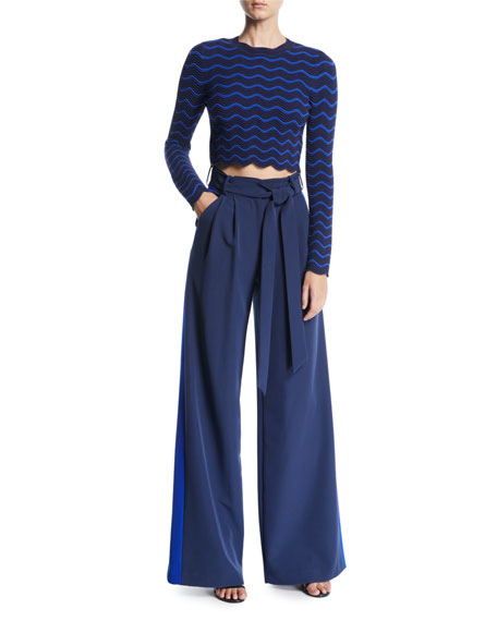Natalie Striped Pants in Italian Cady