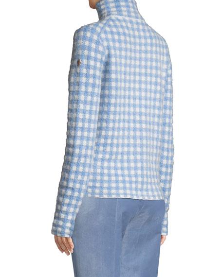 Gingham Turtleneck Sweater