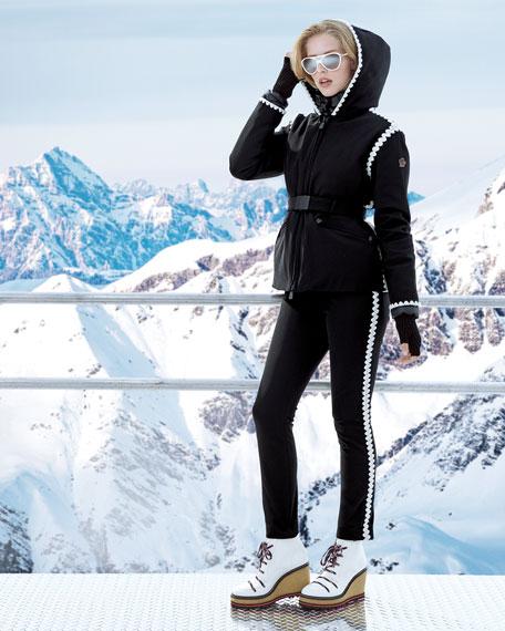 Moncler Grenoble Bourget Pants w/ Contrast Side Details