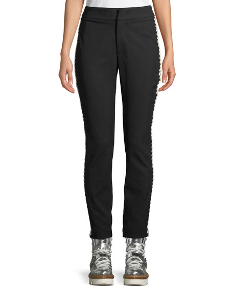 Bourget Pants W/ Contrast Side Details, Black/White