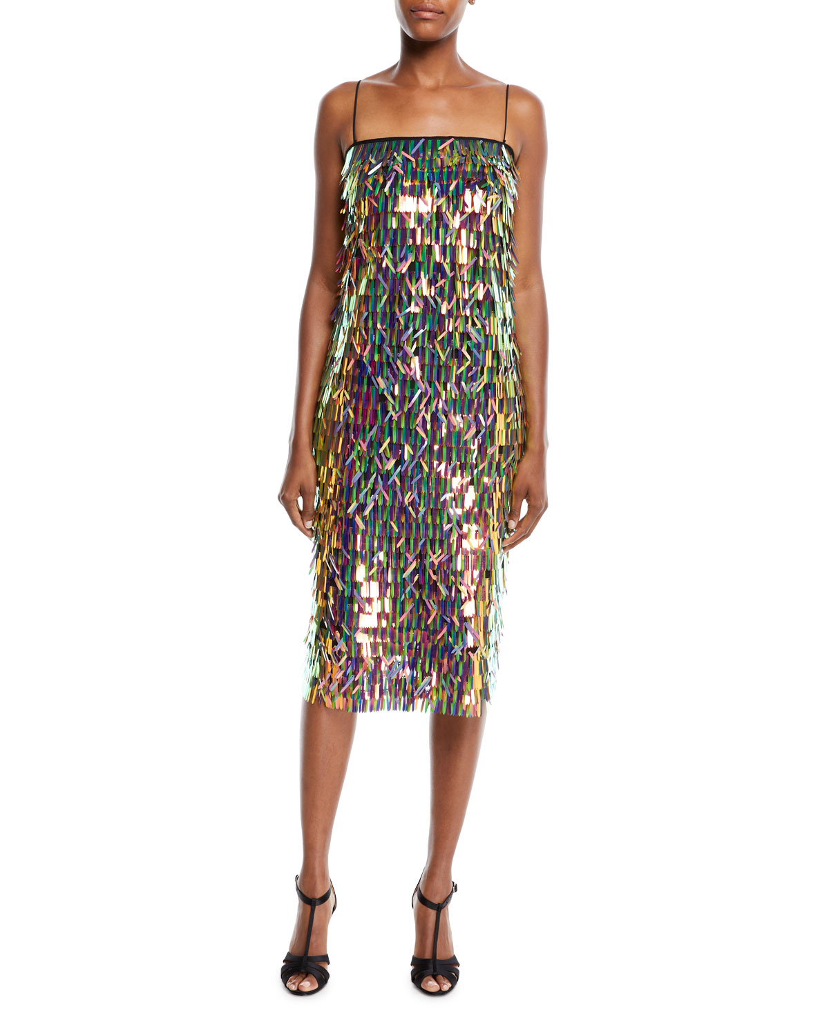 d0e21d1f8 Milly Nickie Strapless Matchstick Paillette Midi Cocktail Dress ...