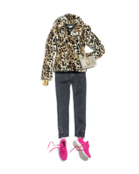 Cheetah-Print Faux-Fur Jacket
