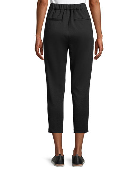 Vince Cozy Pull-On Cropped Wool Pants