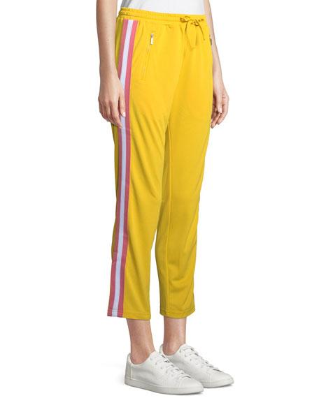 Jolie Side-Stripe Cropped Track Pants