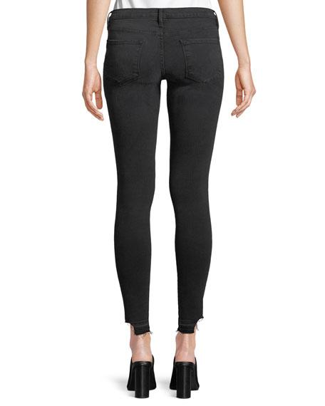 Le Skinny de Jeanne Cropped Skinny Jeans w/ Released Hem