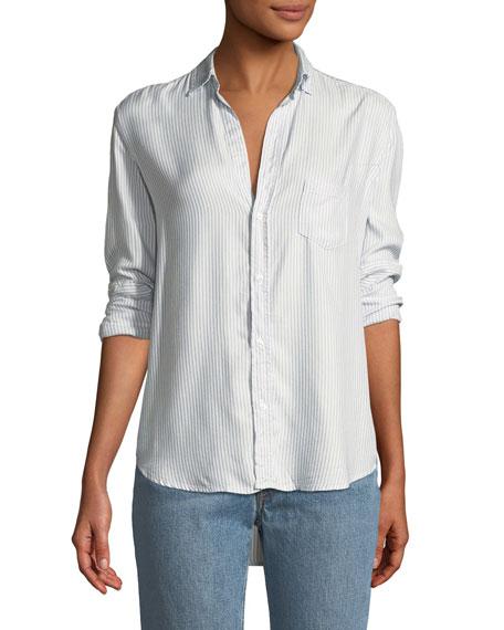 Frank & Eileen Eileen Striped Modal Long-Sleeve Button-Front Shirt