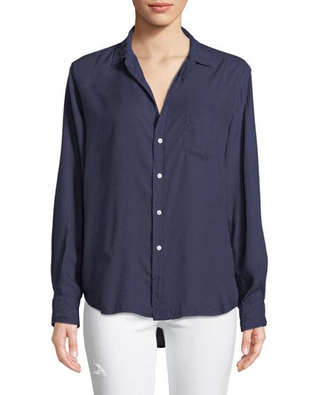 Eileen Long-Sleeve Button-Front Modal Pocket Shirt
