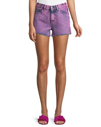 Darby Roberts Side-Slit Cutoff Shorts