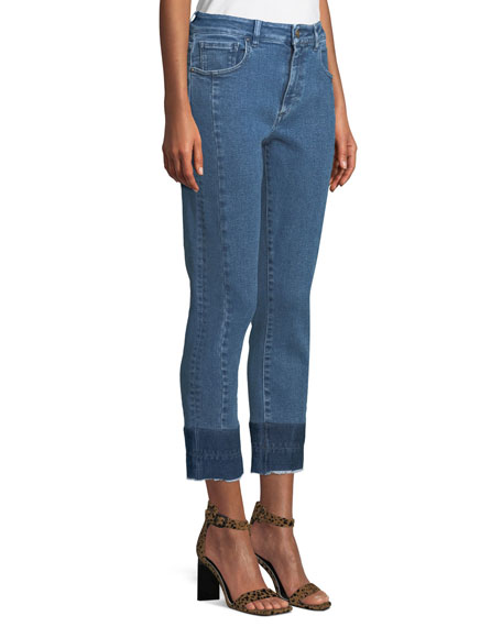 Acynetic Tiana Cropped Raw-Hem Jeans