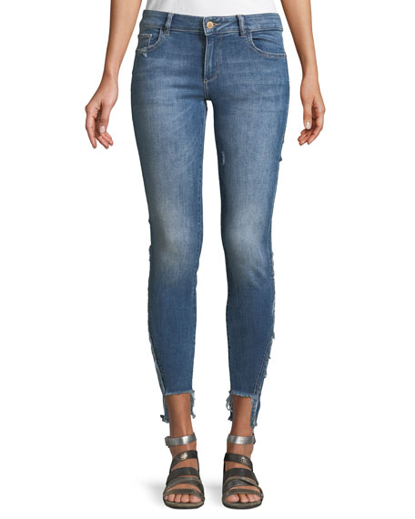 DL 1961 Emma Power Low-Rise Step-Hem Legging Jeans