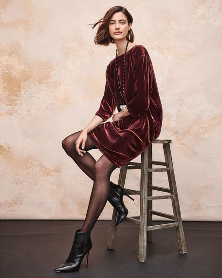Eileen Fisher Petite Short Velvet Shift Dress