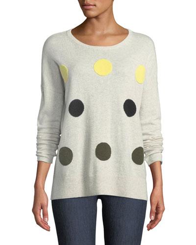 Classic Hot Spots Cashmere Sweater, Plus Size