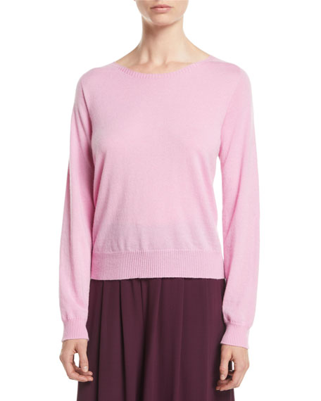 Italian Cashmere Boat-Neck Sweater