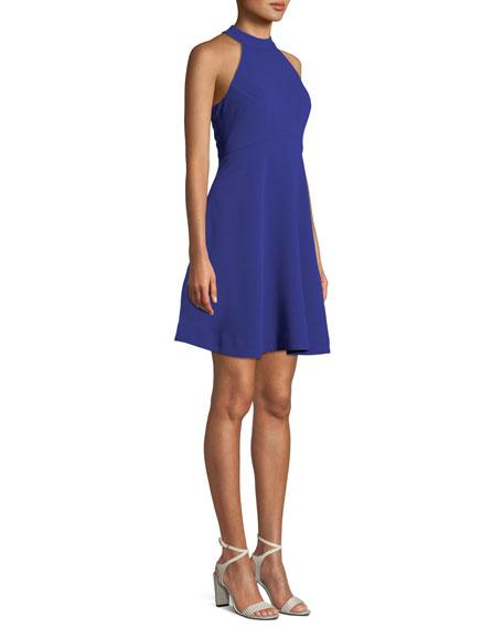 Trina Turk Caroline Crepe Halter Fit-and-Flare Dress