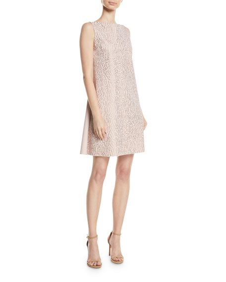 Chiara Boni La Petite Robe Esen Sleeveless Dress w/ Demi-Mosaic Sequins