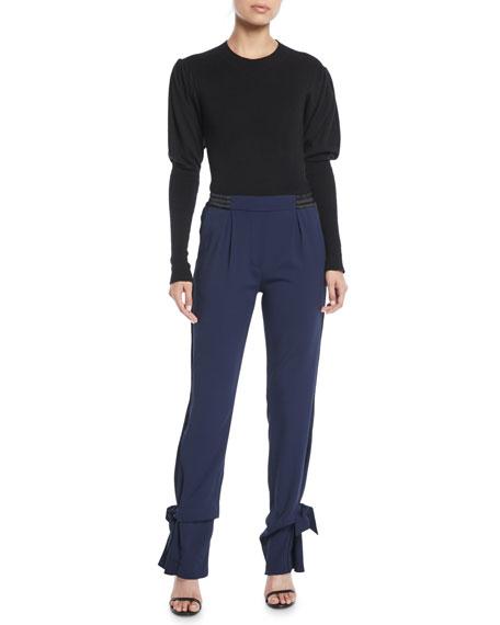 Jonathan Simkhai Combo Tie-Cuff Pull-On Pants