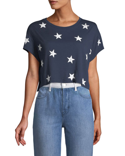 Liberty Star Crop Tee