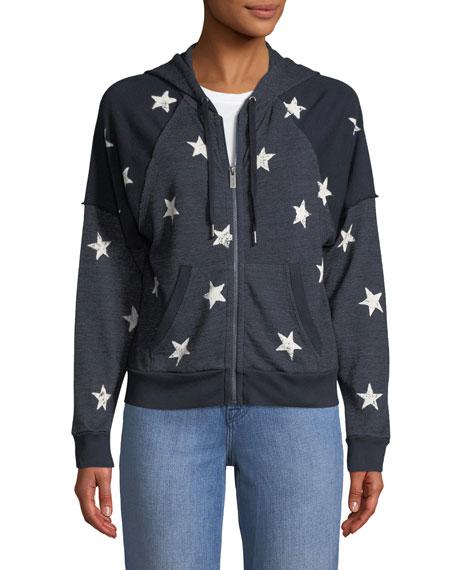 Liberty Star-Print Hooded Jacket