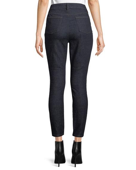 Eileen Fisher High-Waist Organic Cotton Skinny Jeans