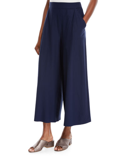 Lightweight Wide-Leg Ankle Pants
