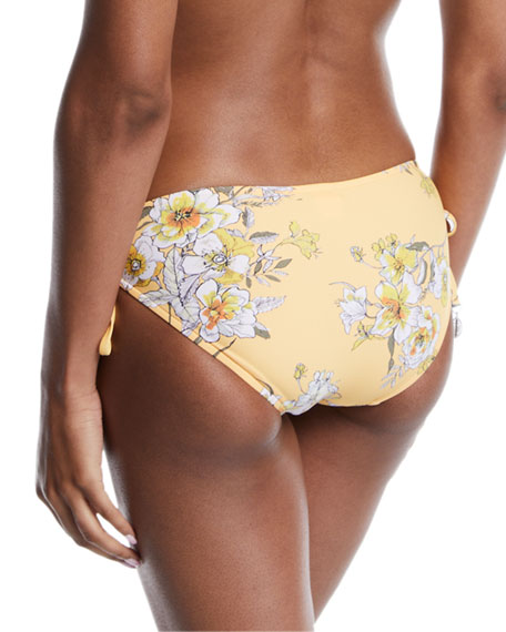Seafolly Midsummer Floral Side-Tie Bikini Swim Bottoms