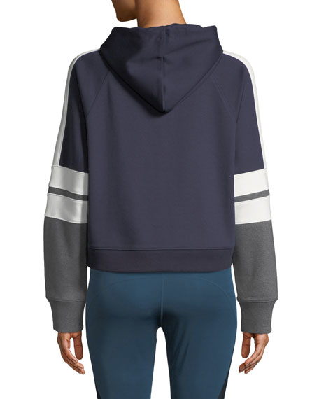 Nylora Carson Boxy Colorblock Cropped Hoodie