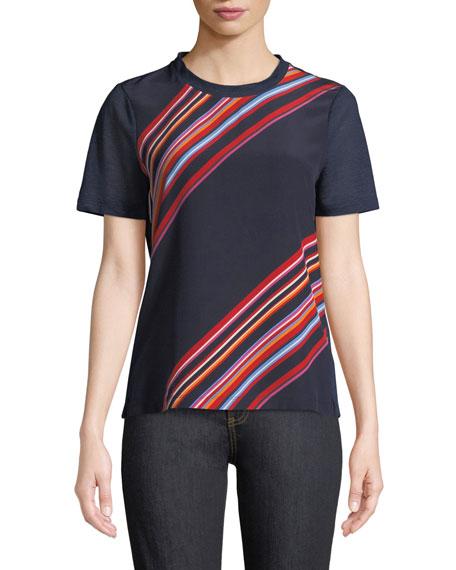 Kayla Asymmetric Striped T-Shirt