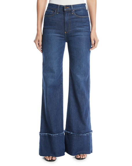 AO.LA by Alice+Olivia Gorgeous High-Rise Wide-Leg Jeans with