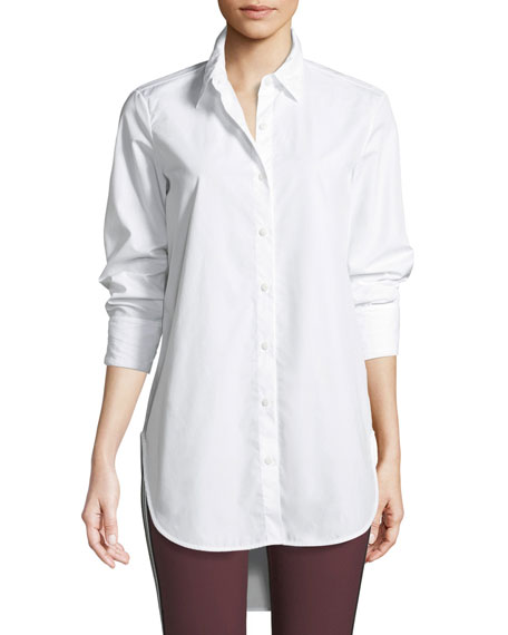 Nightingale High-Low Button-Front Shirt