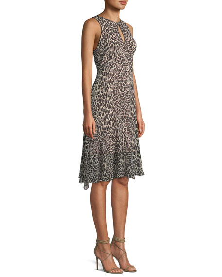 Ferocious Leopard-Print Sleeveless Dress