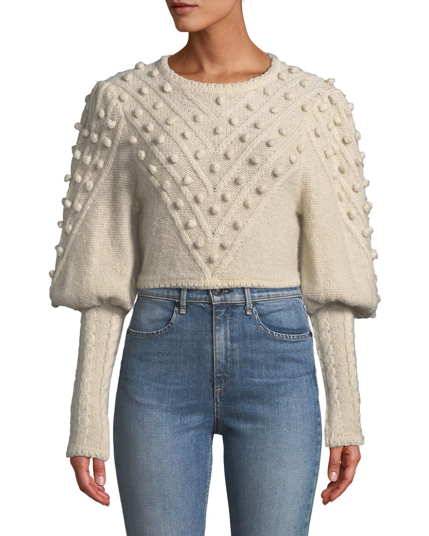 ac33eccc088 Zimmermann Fleeting Bauble Cropped Sweater