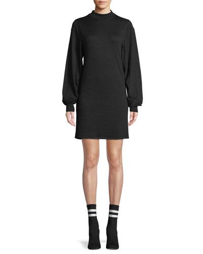 20862e8c7de9 rag & bone/JEAN Bigsby Mock-Neck Long-Sleeve Shift Dress