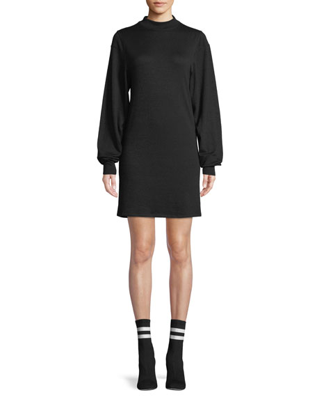 Bigsby Mock-Neck Long-Sleeve Shift Dress