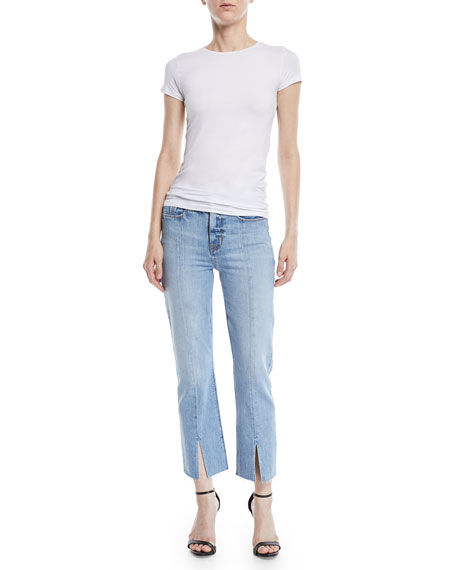 Zoeey High-Rise Straight Cropped Jeans