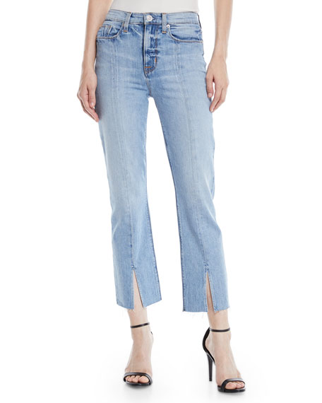 Hudson Zoeey High-Rise Straight Cropped Jeans