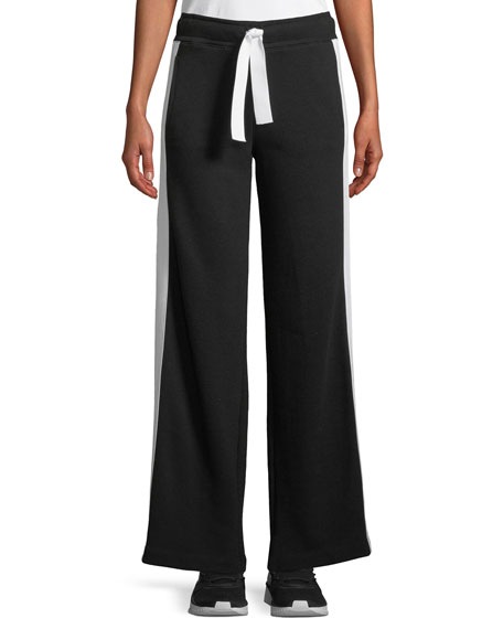 Alala Wide-Leg Striped Activewear Track Pants