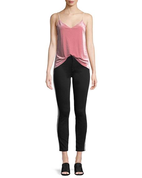 Side-Stripe Ankle Skinny Jeans