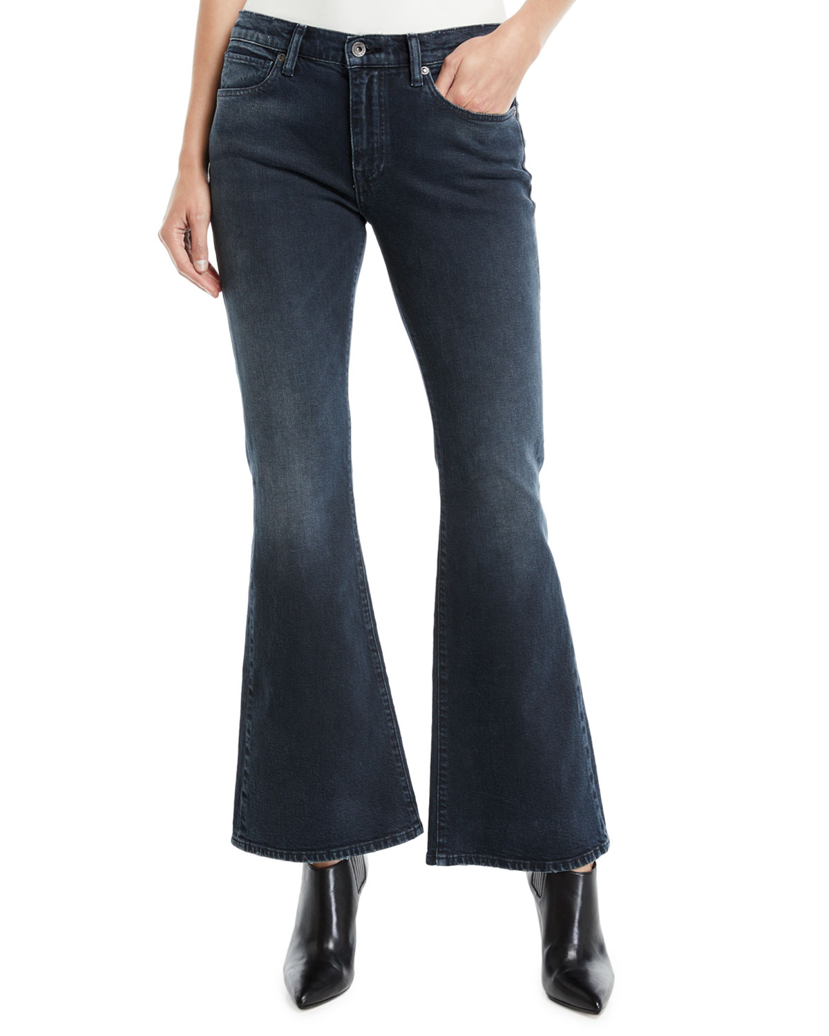 bb58a323a999 Levi s Made   CraftedLMC Stems Mid-Rise Five-Pocket Flared-Leg Jeans