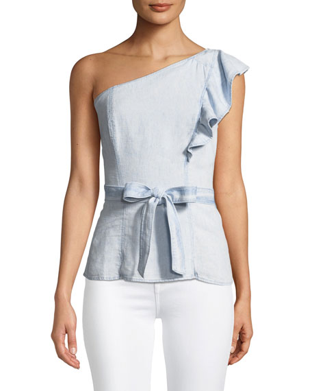 Cantina One-Shoulder Ruffle Top