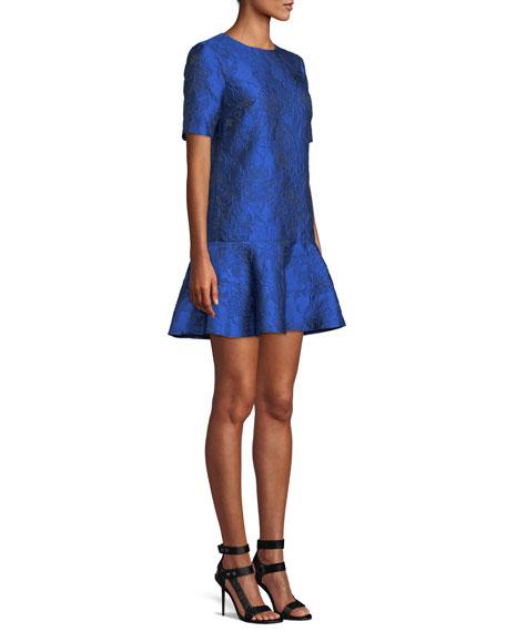 Esther Short-Sleeve Ruffle-Hem Tunic Dress