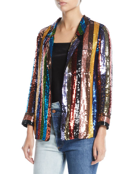 Keir Sequin Embellished Pajama-Style Top