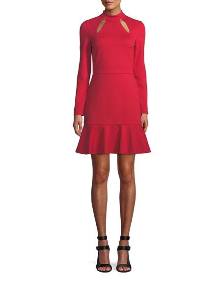 Marisela Mock-Neck Cutout Mini Dress